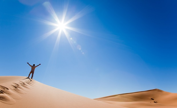 Heiße Temperaturen in Dubai
