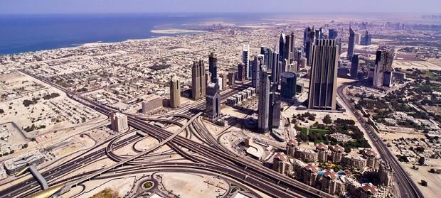 Riesige Panorama-Aufnahme von Dubai