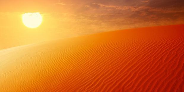Temperaturen in Dubai jenseits der 40 Grad
